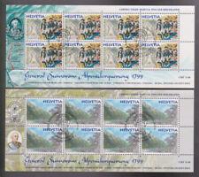 Schweizer Pro Juventute-Briefmarken mit Sonderstempel