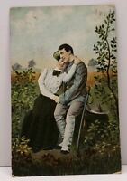 Love & Romance Soldier and His Lady 1909 Cooperstown ND to St Paul Postcard G13