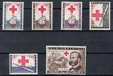 BELGIO 1959 Nuova  Centenario Croce Rossa serie 6 val. MNH** Unificato 1096-101