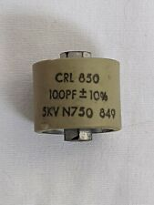 Crl 850 Ceramic Doorknob Transmitting Capacitor 100 Pf 5Kv N750 849