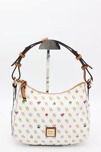 NWT Dooney & Bourke Gretta White Novelty Print Small Kiley Hobo Bag New