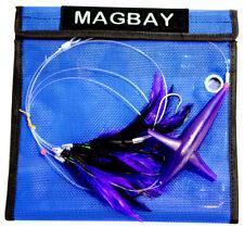 Tuna Lure Tuna Feather Daisy Chain with Bird - Purple Lure Plus Bag