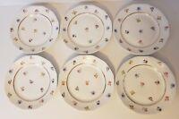 SIX ASSIETTES PLATES EN PORCELAINE DE LIMOGES DE CHEZ CHARLES ROBIN  23 cm