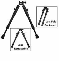 Universal Spring Loaded Extendable Bipod Picatinny Weaver Mount Low Profile