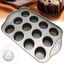 Dessert Non-stick Bakeware Cheesecake 12 Cup Round Muffin Mini Pan Baking Mold