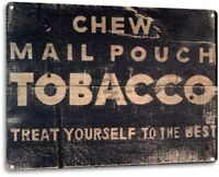 Mail Pouch Tobacco Cigarette Retro Vintage Wall Decor Man Cave Metal Tin Sign