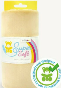 Fleece Super Soft Shorty 1,5 mm Beige 100 X 75 weich kullaloo