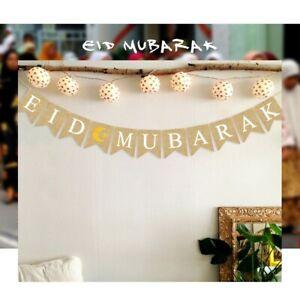 Ramadan Kareem Eid Mubarak Banner Bunting Home Party Decoration Muslim Islamic