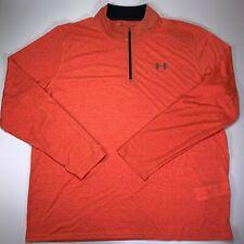 NEW Under Armour Mens UA Thrteadborne 1/4 Zip Sweater 3XL Orange 1289600 985
