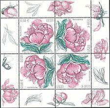 Briefmarken mit Blumen Thema aus Lettland