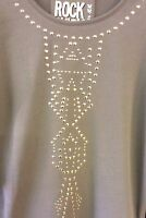 GIRL'S KHAKI STUDDED SWEATER JUMPER Age's 12/13 - 13/14+ years