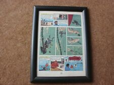 "Tintin - Red Sea Sharks - ""Hic Boom"" - mounted & framed page"