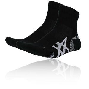 Asics Mens Cushioning Running Socks Black Sports Breathable Lightweight