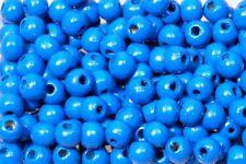 Holzperlen 10mm hellblau, glänzend, 500 Stück