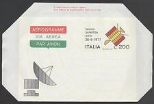 ITALIA REP. - Aerogrammi - 1977 - SIRIO - Lancio del Satellite