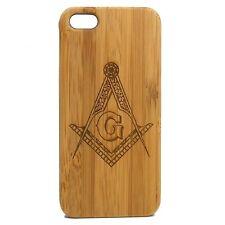 Freemason Case for iPhone 8 Plus Durable Bamboo Wood Cover Freemasonry Masonic