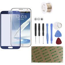 Samsung Galaxy Note 2 N7100 LTE Glas Scheibe Front Touch Glass Navy Blue Blau