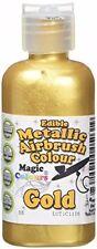 Magic Colores Metálico Comestible Aerógrafo Oro NUEVO