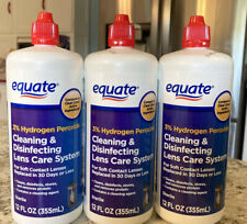 Equate 3% Hydrogen Peroxide Cleaning & Disinfecting Lens 12 oz 3PK Exp 1/21+ Q4