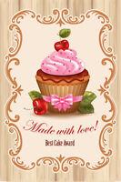 Cupcake Muffin Blechschild Schild gewölbt Metal Tin Sign 20 x 30 cm CC0114