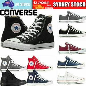 AU Converse Unisex Chuck Taylor Classic Colour All Star Hi Lo Tops Size Trainers