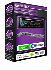 Skoda Fabia DAB radio, Pioneer car stereo CD USB AUX player, Bluetooth kit