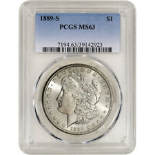 1889-S US Morgan Silver Dollar $1 - PCGS MS63