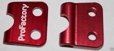 Cr125 Cr250 Abrazadera para LATIGUILLO DE FRENO Montaje Acero Trenzado SOLO ROJO