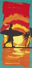 "Surf & Palms Beach Towel - 30"" x 60"" - Velour - Made In Brazil"