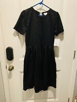 NWT New LuLaRoe Amelia Dress POCKETS XL Pleated Solid Black Star Wars Print HTF