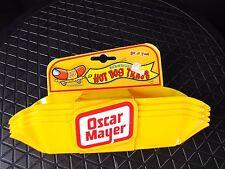 Oscar Mayer Wiener Hot Dog Tray Holders Set of 4 Yellow Plastic Kraft Foods RARE