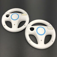 OEM Official Nintendo Wii Racing Steering Wheel White RVL-024 Mario Kart Lot 2
