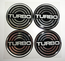 Vintage 80's 90's Automotive Wheel Center Cap Round Emblem Accent Trim TURBO 2.0