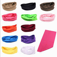 Tube Neck Gaiter Snood Bandana Head Face Mask Solid Color Beanie Scarf  Headwear