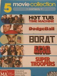 Hot Tub Time Machine / Borat / Epic Movie / DodgeBall / Super Troopers DVD