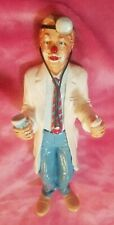"""Clown Doctor Figurine By Judi's Pastime Collectibles 10 3/4"""" Vintage 1986"""