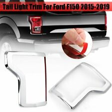 ABS Chrome Rear Tail Light Lamp Frame Cover Trims For Ford F150 2015-2019