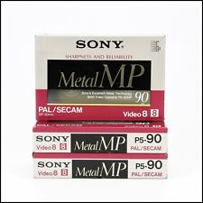 3 x Sony Video8 Hi8 90 Minutes Metal MP Cassette Made In Japan - New & Sealed