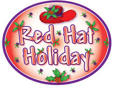 3X PURPLE T SHIRT RED HAT HOLIDAY CHRISTMAS DESIGN FOR RED HAT LADIES OF SOCIETY
