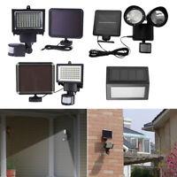 LOT 100 LED Solar Powered Sensor Light Security Flood Motion Outdoor Garden Lamp