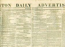 Newspaper Boston Marine Journal  Ship Disasters Whalers Fishermen 1838
