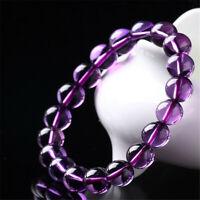 Amethyst Gemstone bracelet Healing natural Chakas Tassel mala energy Reiki Wrist