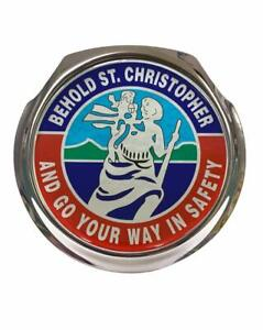 St Christopher - Car Grille Badge - FREE FIXINGS