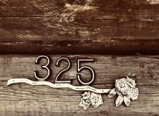 Custom Address Plaque FREE SHIPPING! Mountain Laurel Bar Brass Custom Painted