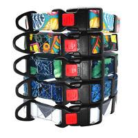Collar nylon para perro pequeño mediano Grand Ajustable Varios Colores 30-56cm