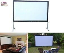 Portable Movie Projection Screen Theater TV Folding Indoor Outdoor Backyard Film