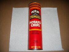 Vintage Pringles Potato Chips New Super Size 8 Ounce Empty Can Red 1980s