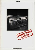 JETHRO TULL 1982 BROADSWORD AND THE BEAST TOUR  CONCERT PROGRAM BOOK / EX 2 NMT