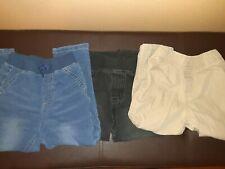 3 Pairs 24 Months Toddler Boys Elastic Pants Khakis Jeans Black Medium Denim