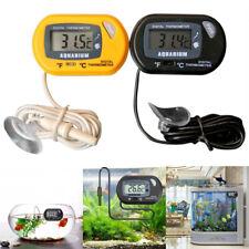 Digital LCD Fish Tank Aquarium Marine Water Thermometer Temperature Black Yellow